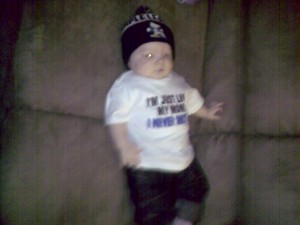 That's one gangsta baby!